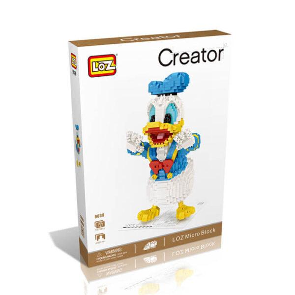Loz 9038 Pato Donald 1670 pcs Kit del clásico personaje de Disney. Construye y colecciona tus personajes favoritos con los bloques de montaje mas pequeños del mercado.