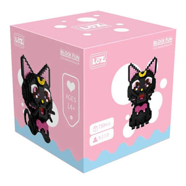 Loz 9210 Sailor Moon Gata Luna 730 pcs Kit del personaje de la serie de Manga Sailor Moon.