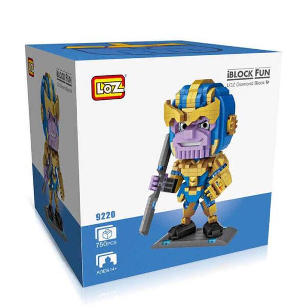 Loz 9220 Marvel Thanos 750 pcs Kit del personaje Thanos, uno de los villanos más poderosos de Marvel.