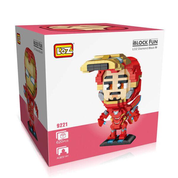 Loz 9221 Marvel Iron Man 620 pcs Kit del personaje Iron Man, uno de los Superheroes del equipo de los Vengadores de Marvel.