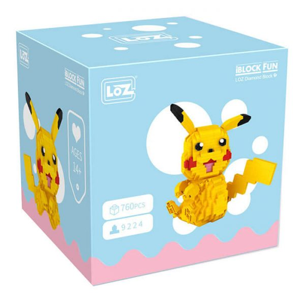 Loz 9224 Pokemon Pikachu 760 pcs Kit del personaje Pikachu de la serie de Manga Pokemon.