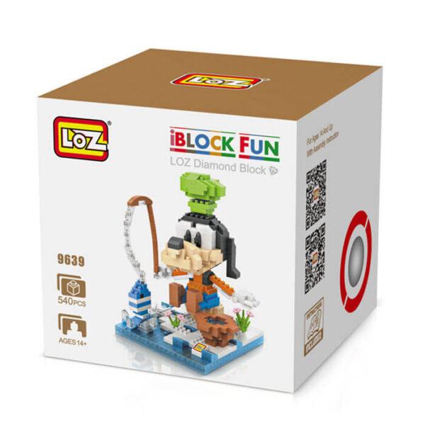 Loz 9639 Disney Goofy 540 pcs Kit del clásico personaje de Disney Goofy.