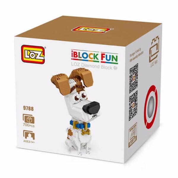Loz 9788 Mascotas Terrier Max 700 pcs Kit del personaje de la película mascotas Max.