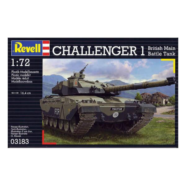revell 03183 Challenger I 1/72 British Main Battle Tank Kit en plástico para montar y pintar. Cadenas por tramo y eslabón.