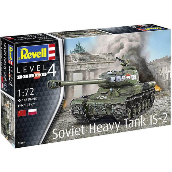 revell 03269 Soviet Heavy Tank IS-2 1/72 Kit en plástico para montar y pintar.