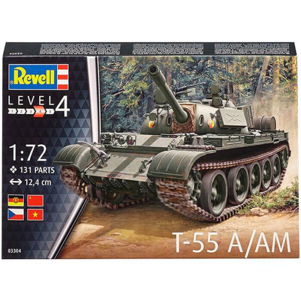 revell 03304 Soviet T-55A/AM 1/72 Kit en plástico para montar y pintar. Cadenas por tramo y eslabón.