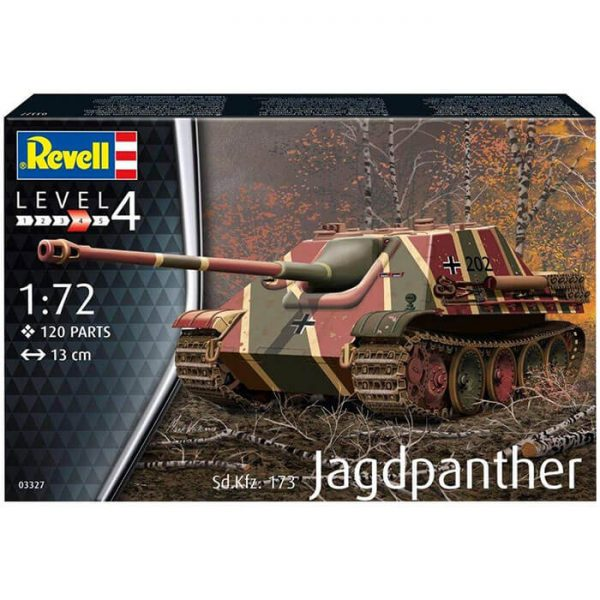 revell 03327 Sd.Kfz.173 Jagdpanther 1/72 Kit en plástico para montar y pintar. Cadenas por tramo y eslabón.