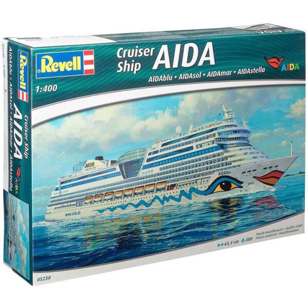 revel 5230 Cruiser Ship AIDA 1/400 AIDAblue . AIDAsol . AIDAmar . AIDAstella Kit en plástico para montar y pintar.