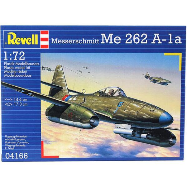 revell 04166 Messerschmitt Me 262A-1a 1/72 Kit en plástico para montar y pintar el famoso caza a reacción alemán de la 2ªGM. Hoja de calcas con 2 decoraciones.