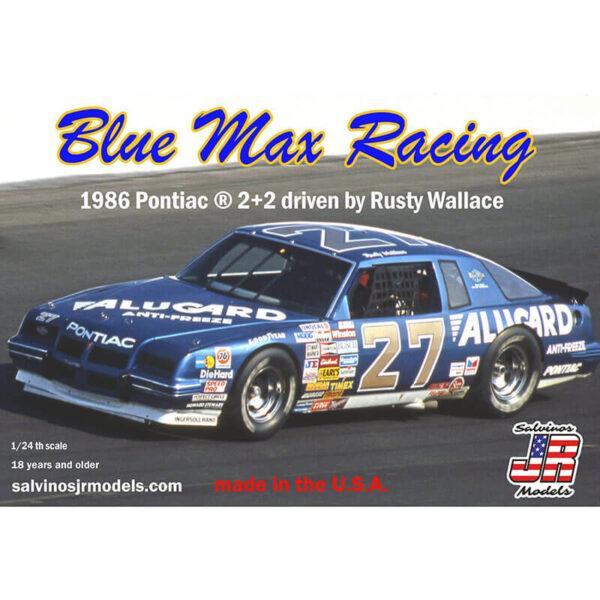 salvinos jr models BMGP1986 Blue Max Racing 1986 Pontiac 2+2 1/24 NASCAR 1986 Kit en plástico para montar y pintar. Incluye interior con jaula antivuelco, suspensión y motor V8 detallados.