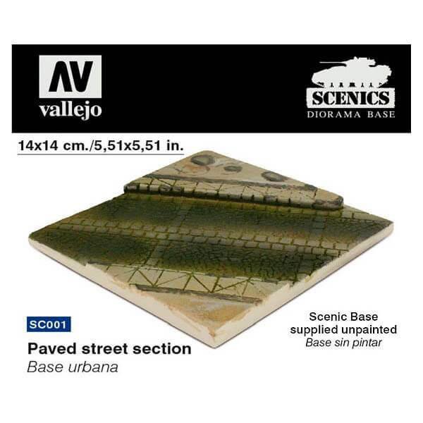 acrylicos vallejo sc001 Base urbana empedrada 1/35 Una base perfecta para crear pequeñas escenas con figuras y vehículos ligeros o tanques pequeños.