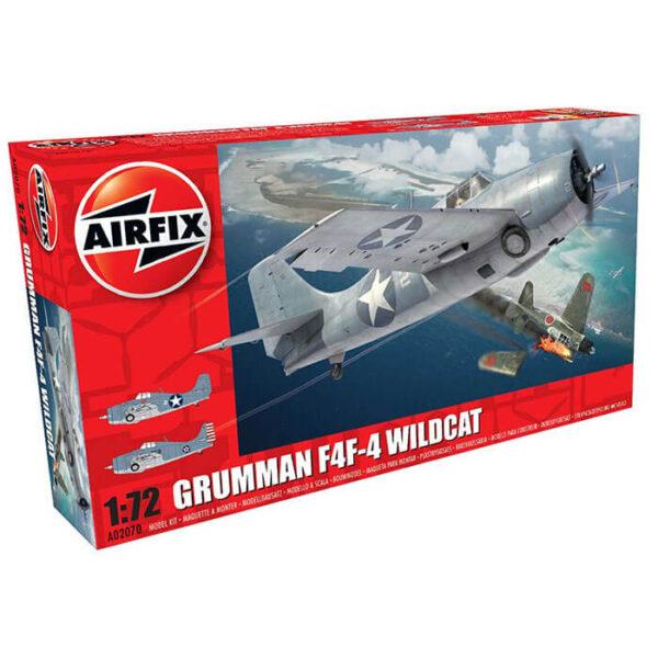 airfix a02070 Grumman F4F-4 Wildcat 1/72 Kit en plástico para montar y pintar. Hoja de calcas con 2 decoraciones.