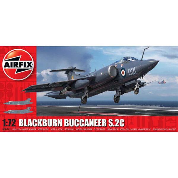 airfix a06021 Blackburn Buccaneer S.2 RN 1/72 Kit en plástico para montar y pintar. Hoja de calcas con 2 decoraciones.
