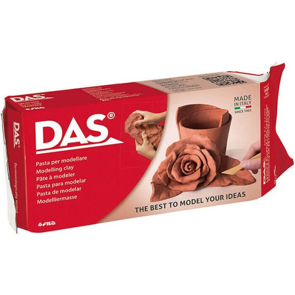 das 020734 Pasta para modelar Das terracota 1/2 kg DAS, la pasta para modelar que despierta la creatividad. Este producto es ideal para la realización de bases y terrenos para los dioramas.