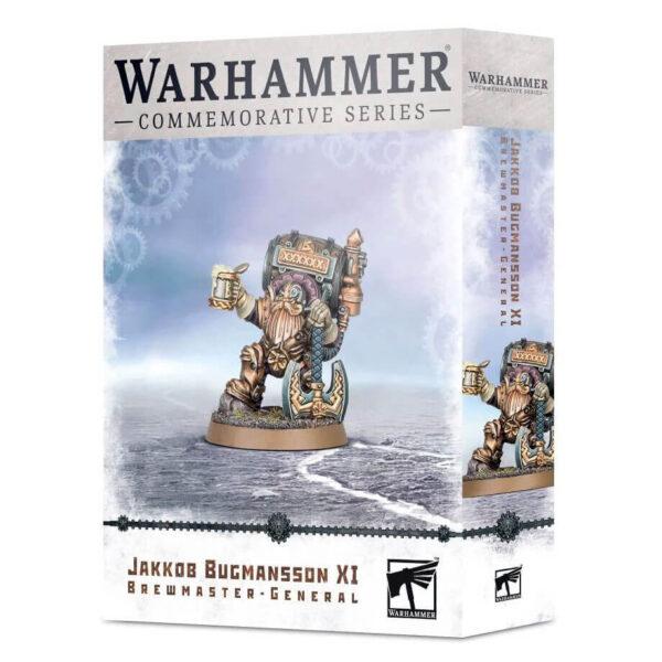 games workshop 84-43 Jakkob Bugmansson XI: Brewmaster-General Warhammer Commemorative Series Miniatura multicomponente con 12 piezas. Incluye 2 cabezas