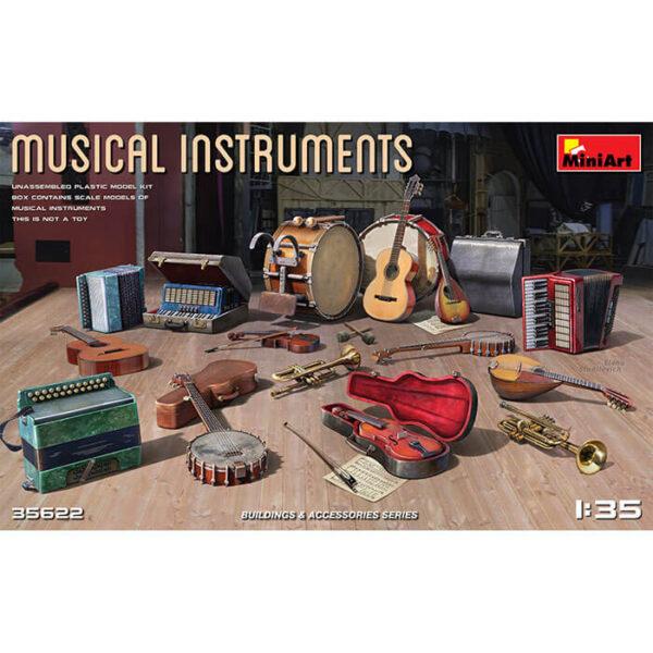 miniart 35622 Musical Instruments 1/35 Building & Accessories Series Kit en plástico para montar y pintar.