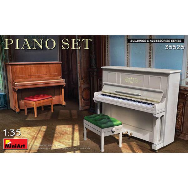 miniart 35626 Piano Set 1/35 Building & Accessories Series Kit en plástico para montar y pintar.