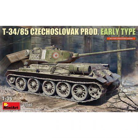 miniart 37085 T-34/85 Czechoslovak Prod. Early Type 1/35 Kit en plástico para montar y pintar. Incluye fotograbados.