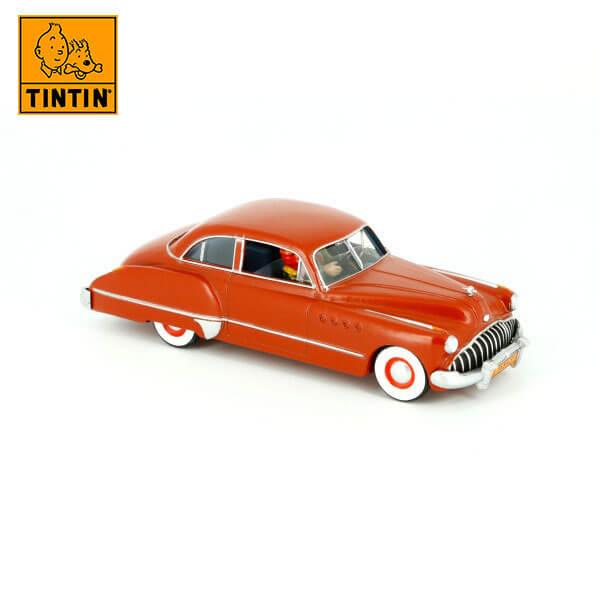 tintin 29505 The Red Buick -Tintin en el país del oro negro Tintin in the cars Coche de colección en metal, incluye figura de personaje.