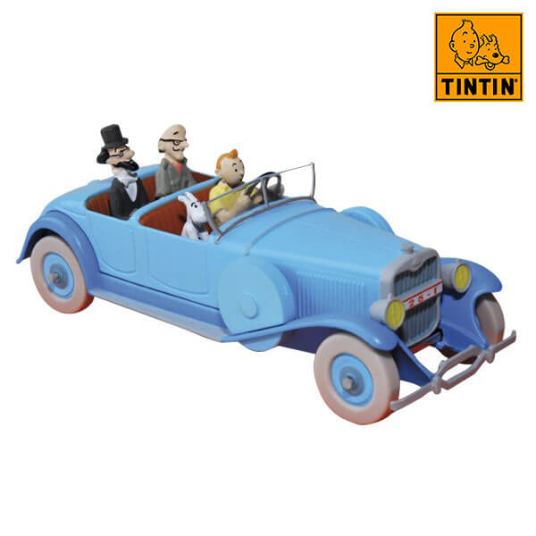tintin 29506 Lincoln Torpedo -Tintin en Los cigarros del faraón Tintin in the cars Coche de colección en metal, incluye figura de personaje.