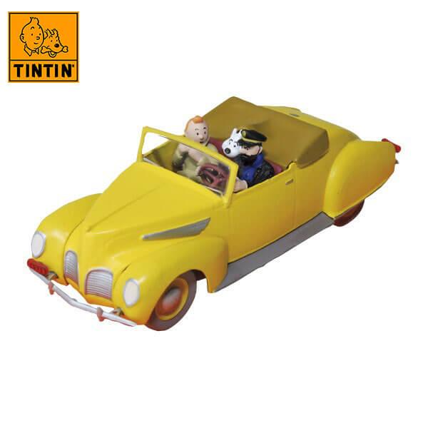 tintin 29507 Lincoln Zephyr -Tintin en El asunto Tornasol Tintin in the cars Coche de colección en metal, incluye figura de personaje.