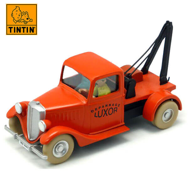 tintin 29511 The tow truck -Tintin en El cangrejo de las pinzas de oro Tintin in the cars Coche de colección en metal, incluye figura de personaje.