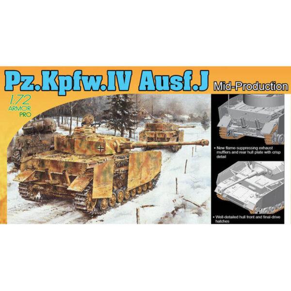 dragon 7498 Pz.Kpfw.IV Ausf.J Mid Production 1/72 Kit en plástico para montar y pintar, incluye piezas en fotograbado.
