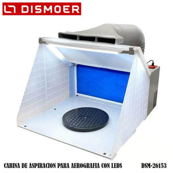 dsm 26153 Cabina de aspiración para aerografía con LEDS Motor de extracción más potente de su categoría. 3 tiras LED de 1200 lúmen.