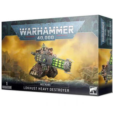 games workshop 49-28 Destructor Pesado Lokhust Necrones .- Aniquila a tus oponentes desde la distancia. .- Montaje fácil: ¡sin pegamento!