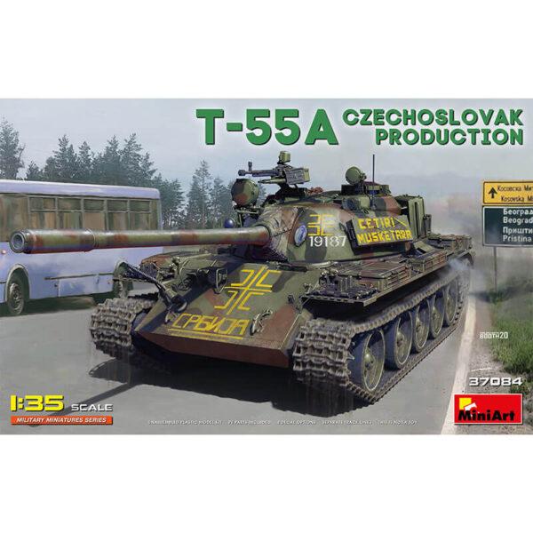 miniart 37084 T-55A Czechoslovak Production 1/35 Kit en plástico para montar y pintar. Incluye piezas en fotograbado y cadenas por eslabones individuales.