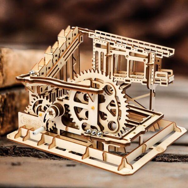 Montaña Rusa para canicas Cog coaster Diviértete y desarrolla tu pensamiento creativo mientras montas el mecanismo.