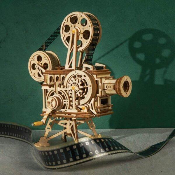 rokr Proyector de cine vintage Vitascope Montael Vitascope, gira la manivela y disfruta del encanto del cine mudo.