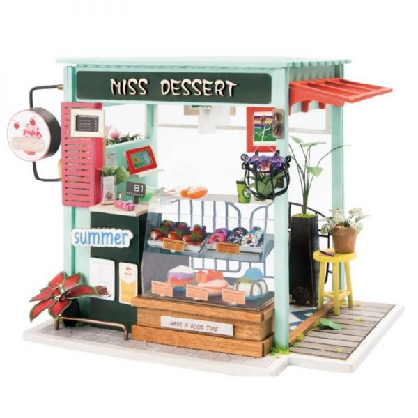 rolife DGM06 Ice Cream Station Las maquetas ROBOTIME son casas en miniatura que recrean con increíble detalle lugares de la vida diaria, a escala 1:24