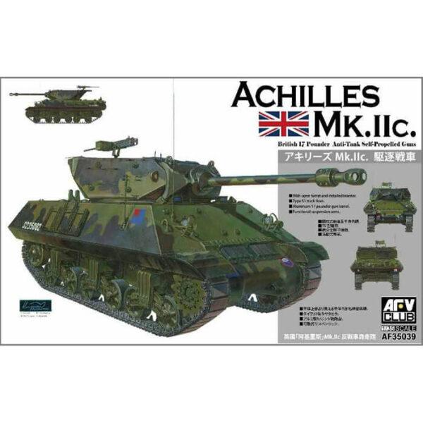 AFV 35039 Achilles Mk.IIc 1/35 British 17 Pounder Anti-Tank Self-Propelled Gun Kit en plástico para montar y pintar. Incluye cañón torneado en metal.