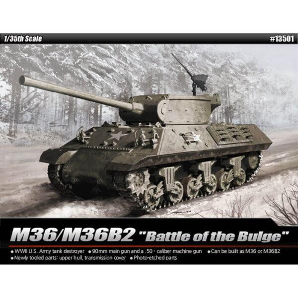 academy 13501 M36/M36B2 Battle of the Bulge 1/35 Kit en plástico para montar y pintar. Incluye piezas en fotograbado.