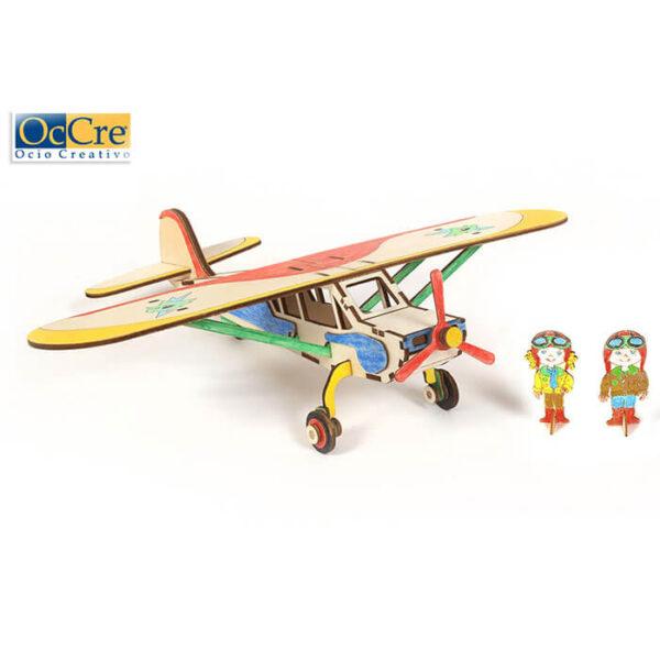 occre 20002 Occre Junior Avión Falcon Monta y colorea el avión Falcon y surca los cielos con tu imaginación. Kit en madera de fácil montaje, ideal para iniciarse en el apasionante mundo del modelismo.