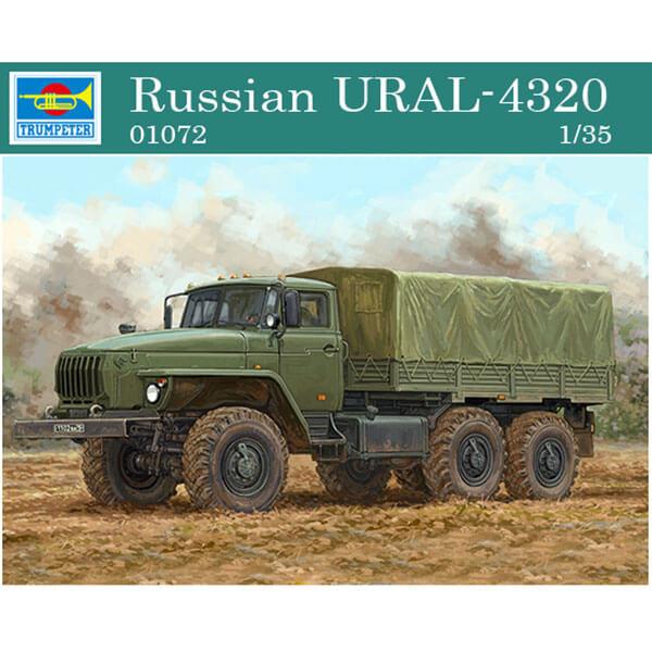 trumpeter 01072 Russian URAL-4320 1/35 Kit en plástico para montar y pintar. Incluye piezas en fotograbado.
