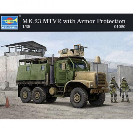 trumpeter 01080 MK.23 MTVR with Armor Protection 1/35 Kit en plástico para montar y pintar. Incluye piezas en fotograbado.