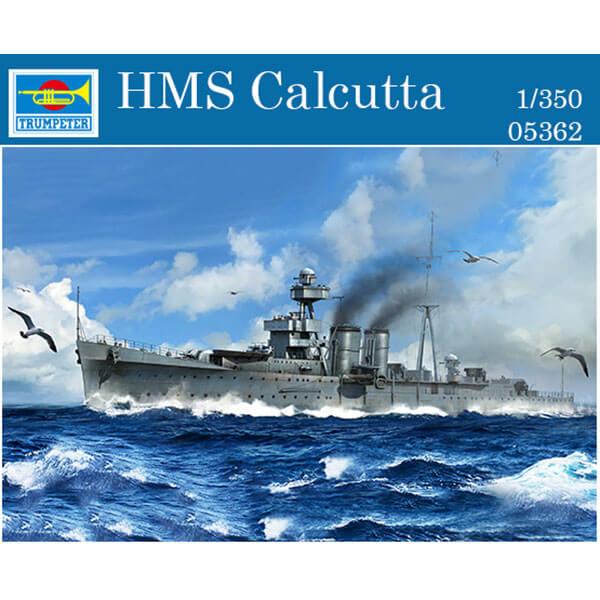 trumpeter 05362 HMS Calcutta 1/350 Kit en plástico para montar y pintar. Incluye piezas en fotograbado.