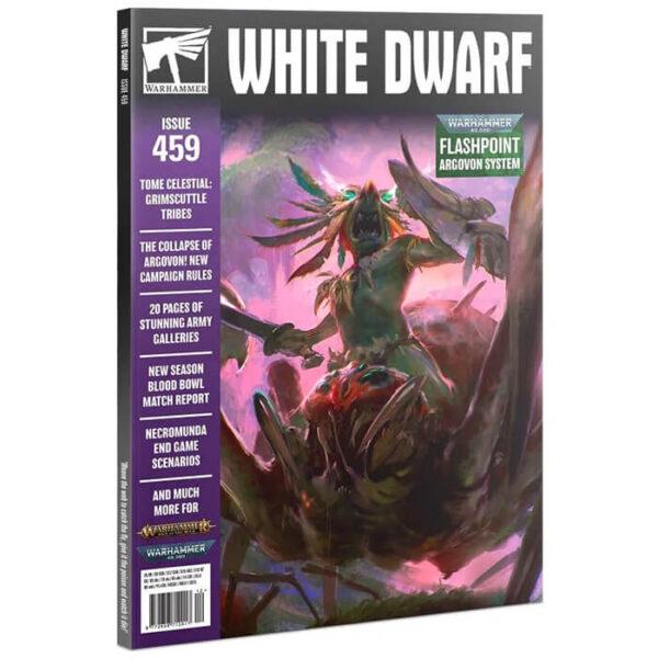 White Dwarf nº 459 revista en Inglés La revista White Dwarf esta centrada en el universo de los juegos de Games Workshop, Warhammer,Warhammer 40k, Age of Sigmar, Warhammer Underworld, etc.