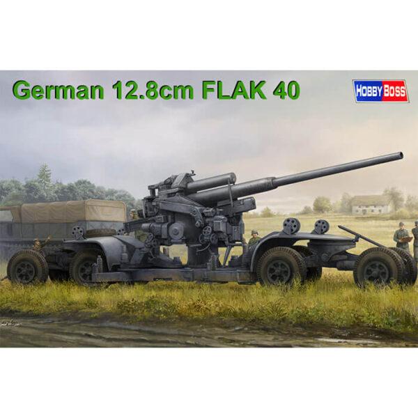 Hobby Boss 84545 German 12.8cm FLAK 40 1/35 Kit en plástico para montar y pintar. Incluye piezas en fotograbado.