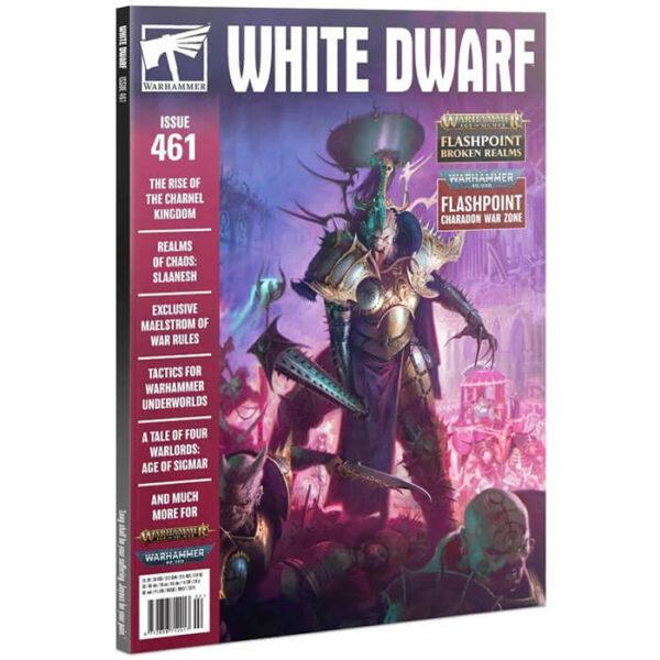 White Dwarf nº 461 revista en Inglés La revista White Dwarf esta centrada en el universo de los juegos de Games Workshop, Warhammer,Warhammer 40k, Age of Sigmar, Warhammer Underworld, etc.