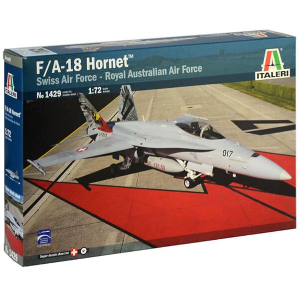 italeri 1429 McDonnell Douglas F/A-18 Hornet 1/72 Swiss Air Force - Royal Australian Air Force Kit en plástico para montar y pintar.