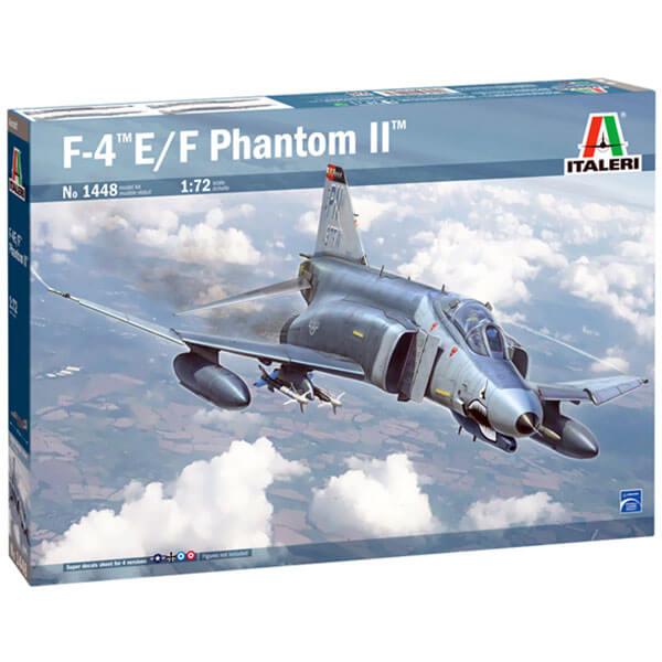 italeri 1448 McDonnell Douglas F-4 Phantom II 1/72 Kit en plástico para montar y pintar. Hoja de calcas con 4 decoraciones.