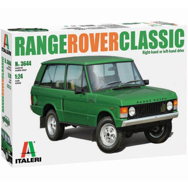 italeri 3644 RANGE ROVER Classic 1/24 Kit en plástico para montar y pintar. Se puede montar con el volante a la derecha o a la izquierda.