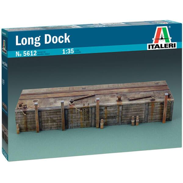 italeri 5612 Long Dock 1/35 kit en plástico parta montar y pintar. Incluye 2 secciones de muelle de 30cm