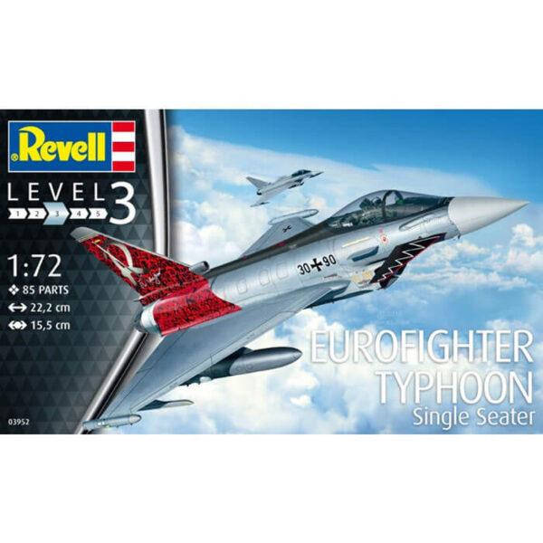 revell 03952 Eurofighter Typhoon Single Seater 1/72 Kit en plástico para montar y pintar.