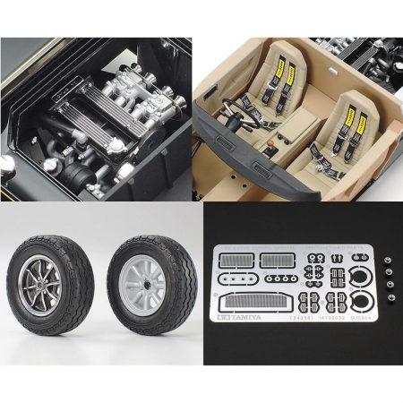 tamiya 24358 Lotus Europa Special 1/24 Kit en plástico para montar y pintar, incluye piezas en fotograbado y metal. Incluye 2 tipos de ruedas: estándar o RS Watanabe de 8 radios.