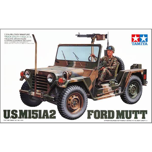 tamiya 35123 US M-151 A21 Ford Mutt 1/35 Kit en plástico para montar y pintar. Hoja de calcas con 5 decoraciones US Army, US Marine Corps y Arizona NG.