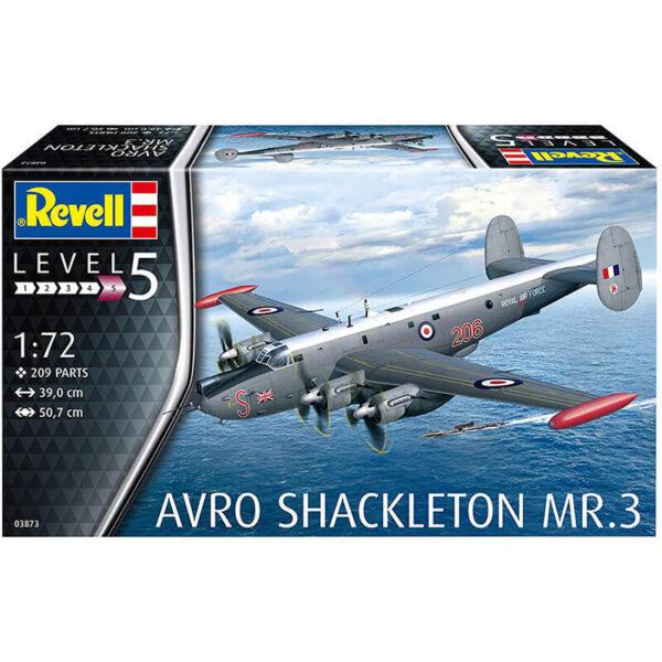 Revell 03873 Avro Shackleton MR.3 1/72 Kit en plástico para montar y pintar. Hoja de calcas con 2 decoraciones RAF.